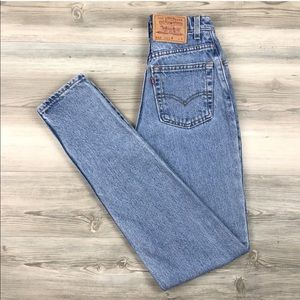Rare vintage Levi's slim fit tapered leg jeans
